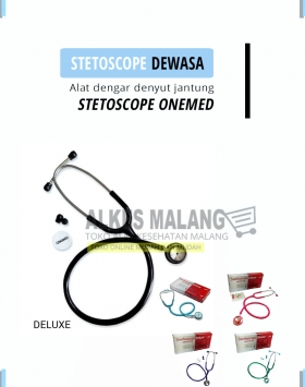 [Alkes-Malang]Stetoscope Dewasa Deluxe Onemed