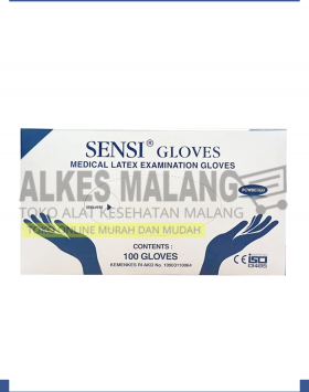 sarung tangan sensi gloves XS,S, M, L, XL ALKES MALANG
