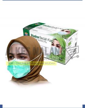 Masker Jilbab Green OneMed box 50pcs ALKES MALANG