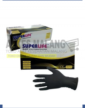 NITRILE GLOVES BLACK TATTOO XS, S, M, L alkes malang