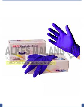 Safeglove Nitrile Cobalt Blue OneMed box 100pcs - XS, S, M, L, XL ALKES MALANG