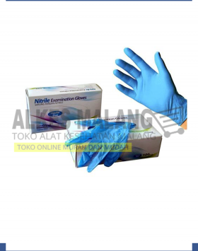 Safeglove Nitrile Reguler Blue OneMed box 100pcs - XS, S, M, L ALKES MALANG