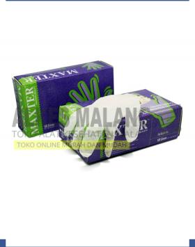 Sarung Tangan Latex Maxter Exam Glove Box Isi 100 Size S ALKES MALANG