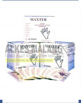 Sarung Tangan Steril APD Maxter Steril 7,5 ALKES MALANG